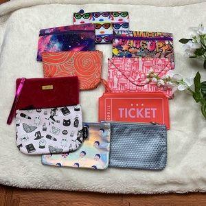 Bundle of 10 Ipsy Cosmetic Bags